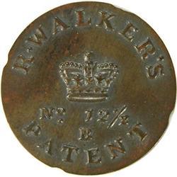 R Walker's Patent No 12 1/2, Unc