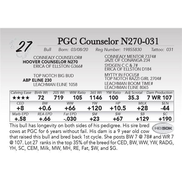 PGC Counselor N270-031