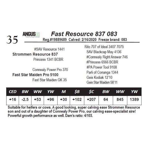 Fast Resource 837 083