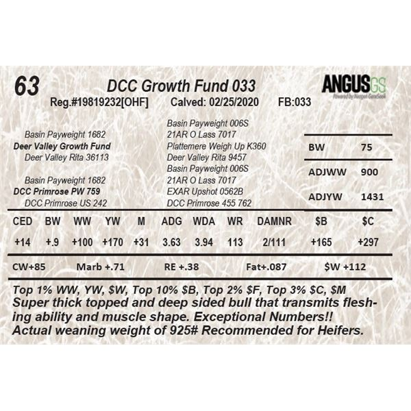 DCC Growth Fund 033