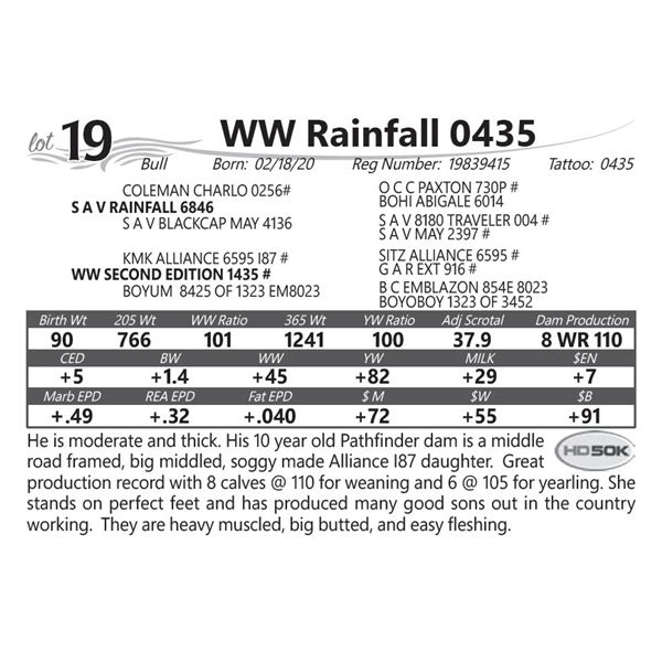 WW Rainfall 0435