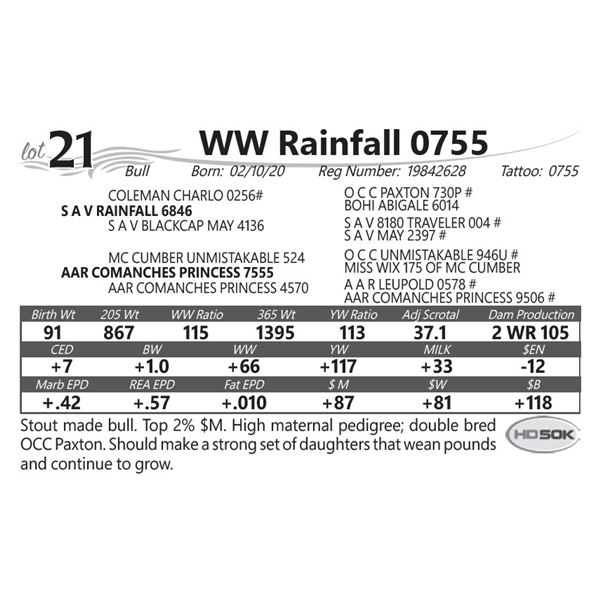 WW Rainfall 0755