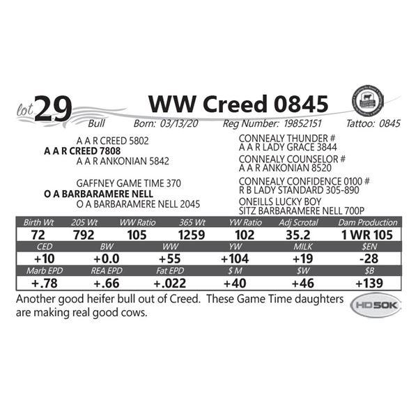 WW Creed 0845