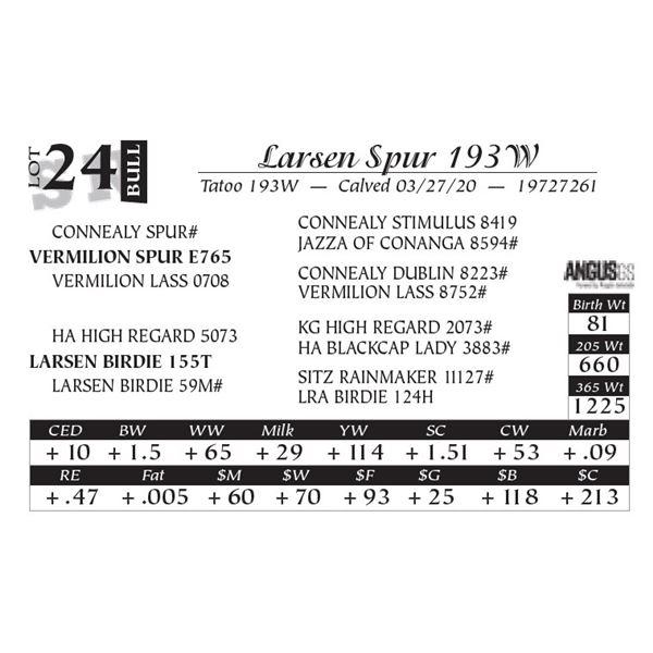 Larsen Spur 193W