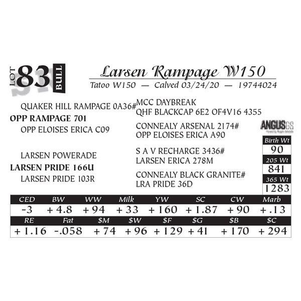 Larsen Rampage W150