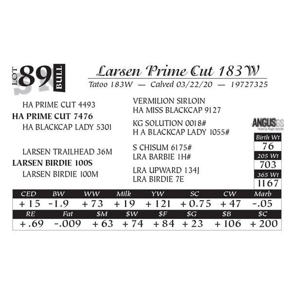 Larsen Prime Cut 183W