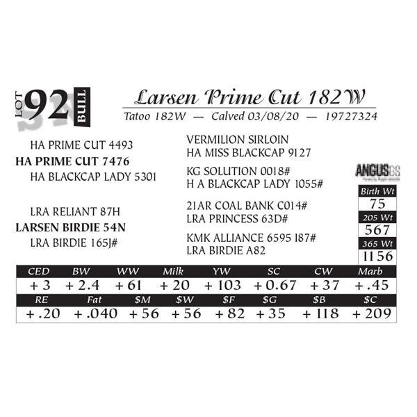 Larsen Prime Cut 182W