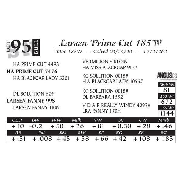 Larsen Prime Cut 185W