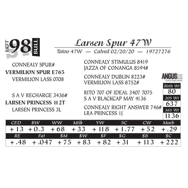 Larsen Spur 47W