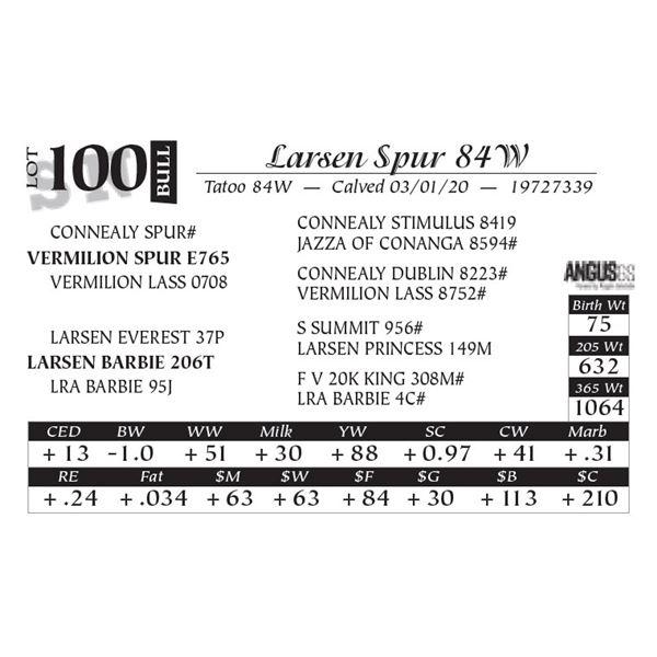 Larsen Spur 84W