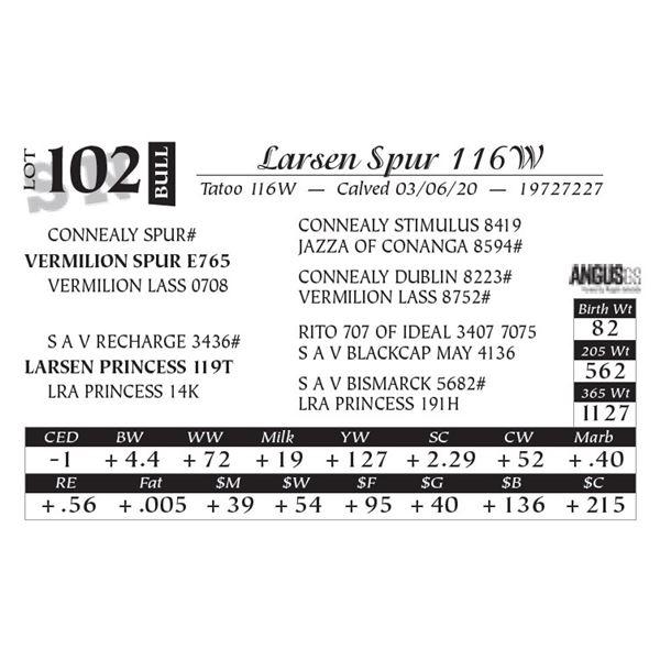Larsen Spur 116W