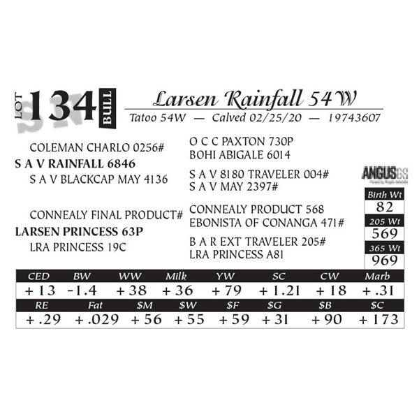 Larsen Rainfall 54W