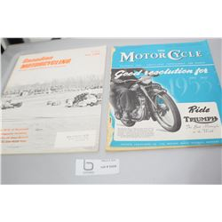 MOTORCYCLE MAGAZINES 1 IS POOR