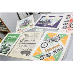 ANTIQUE MOTORCYCLE ADS