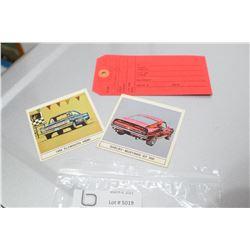 TEXACO OIL BARREL TAG & B/A GAS CARDS