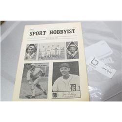 1962 SPORTS MAGAZINE  FOR BASEBALL CARDS TY COBB
