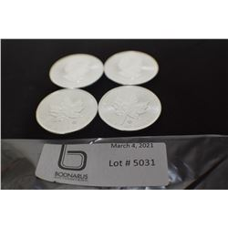 4 TIMES THE MONEY 1 OZ .9999 STERLING CANADIAN $5 COIN