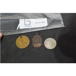 1947 PENDANT, JORDAN COIN, STATUE LIBERTY TOKEN