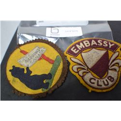 SIOUX FALLS AND EMBASSY ANTIQUE PATCHES