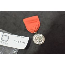 STERLING HIGHLAND DANCE MEDAL AND RIBBON 1953
