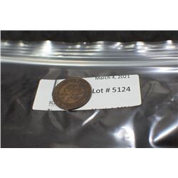 1899 QUEEN VICTORIA 1 CENT COIN