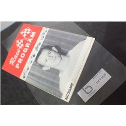 1958 RACING AUTO PROGRAM