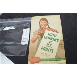 B.C. FRUITS CANNING GUIDE 1946