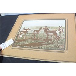 ANTIQUE LARGE ANTELOPE PICTURE