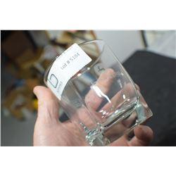 JOHN DEERE ADVERTISING GLASS