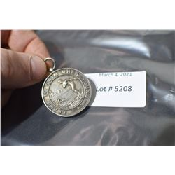 STERLING HALLMARKED BIRMINGHAM MEDAL SWIMMING 1902