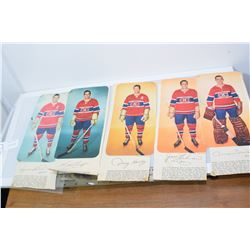 MONTREAL CANADIEN NEWSPAPER POSTER CUTOUTS  HOCKEY