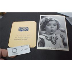 SHIRLEY TEMPLE AND TEA CARD ADVERTISING