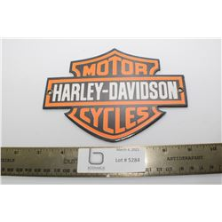HEAVY PORCELAIN SIGN.....HARLEY DAVIDSON