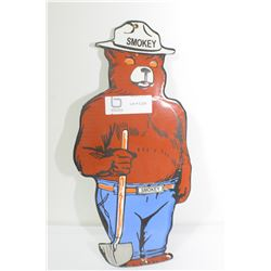 HEAVY PORCELAIN SIGN...SMOKEY BEAR FOREST FIRE