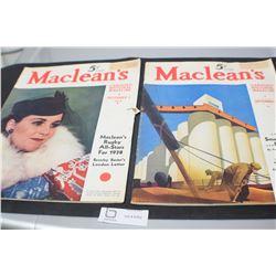 MACLEANS  MAGAZINE 1938 1939 CFL