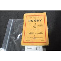 DELISLE THOMPSON SASKATOON RUGBY RULES 1949