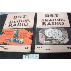1929 AMATEUR  RADIO MAGAZINES