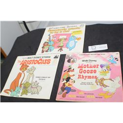 DISNEY 1960s 1970 story and record BOOKS