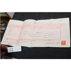 BRITISH PROOF OF BIRTH CERTIFICATE 1898