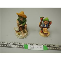 2X THE MONEY / VINTAGE FIGURINES (1 GOEBEL, 1 STAMPED WITH A CROWN & AN A)