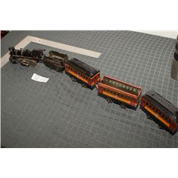 WOW! HAFNER CHICAGO TOYS CPR TRAIN SET TOY WITH WORKING CAST CLOCKWORK ENGINE & LITHO TIN CARS