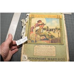 MONTGOMERY WARD CATALOG AND EATONS CATALOG BOTH POOR BUT OVER 1000 PAGES TOYS ETC