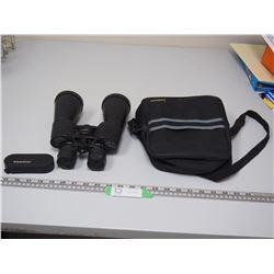 TASCO ZIP 10X -40 X 63 BINOCULARS & CASE