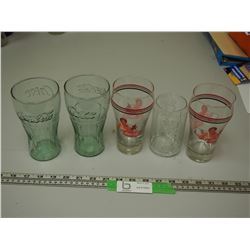GLASS COKE CUPS