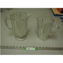 2X THE MONEY/ VINTAGE FANCY GLASS PITCHERS