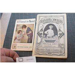 ANTIQUE ADVERTISING COOKBOOKS --1 1800S