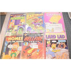 6 EXC. SIMPSON COMIC BOOKS