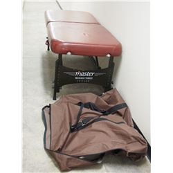 MASTER FOLDING MASSAGE TABLE (72 IN LONG X 26 IN HIGH) WITH STORAGE BAG