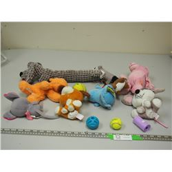 DOG TOYS (SOME NOISE MAKERS)