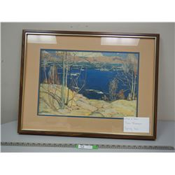 TOM THOMSON PAINTING IN FRAME (21 1/4 X 25 1/4 LONG)
